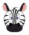 Kartonnen zebra masker voor kinderen