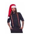 Kerst bretels rood wit voor volwassenen