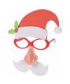 Kerst kerstman verkleed bril met licht voor volwassenen