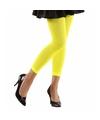 Neon gele legging voor dames