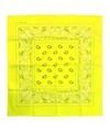 Neon gele zakdoek bandana 53 x 53 cm