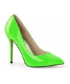 Neon groene stiletto pumps glow in the dark voor dames