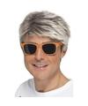 Oranje neon feestbril voor volwassenen