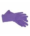 Paarse verkleed handschoenen kort voor volwassenen