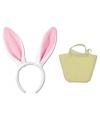Paashaas accessoires set wit voor volwassenen
