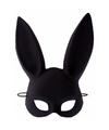 Popster konijnenoren masker zwart voor dames