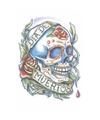 Realistische doodshoofd tattoo 1 vel