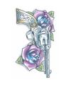 Realistische revolver tattoo 1 vel