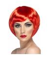 Rode korte dames pruik boblijn