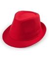 Rood trilby verkleed hoedje voor volwassenen
