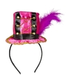 Roze hoedje op diadeem voor dames