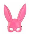 Roze konijnen hazen masker voor volwassenen
