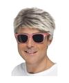 Roze neon feestbril voor volwassenen