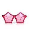 Roze sterren bril glitters voor volwassenen