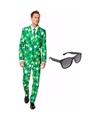 Sint patricks day heren kostuum maat 46 s met gratis zonnebril