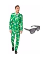 Sint patricks day heren kostuum maat 50 l met gratis zonnebril