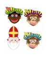 Sinterklaas 3x zwarte pieten sinterklaas maskers setje