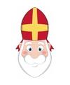 Sinterklaas kartonnen sinterklaas masker voor kinderen