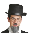 Vilten zwarte hoge hoed voor volwassenen