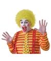 Voordelige gele clownspruik voor volwassenen