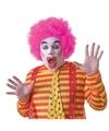 Voordelige roze clownspruik voor volwassenen