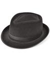 Zwarte trilby hoed vilt voor volwassenen