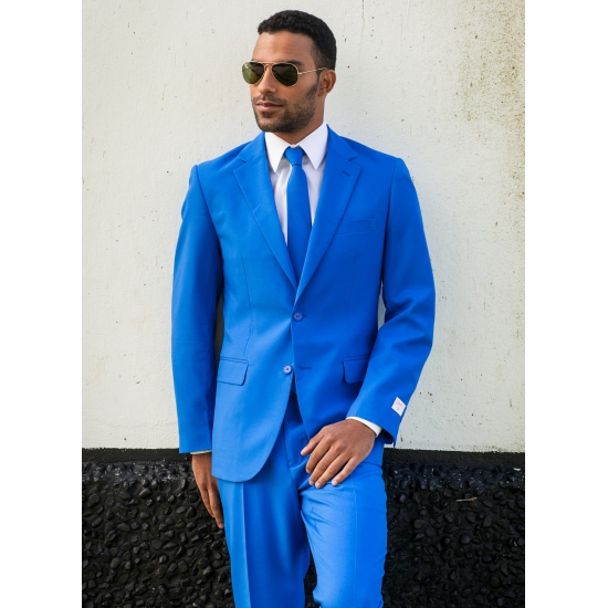 Vaak Fel blauw kostuum pak voor heren &HL78
