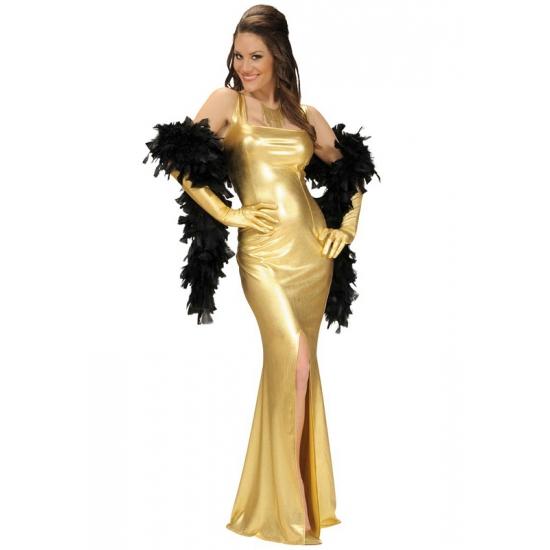 Gouden Cocktailjurk.Lange Gouden Galajurk Verkleedkleding Shop Voor Al Uw